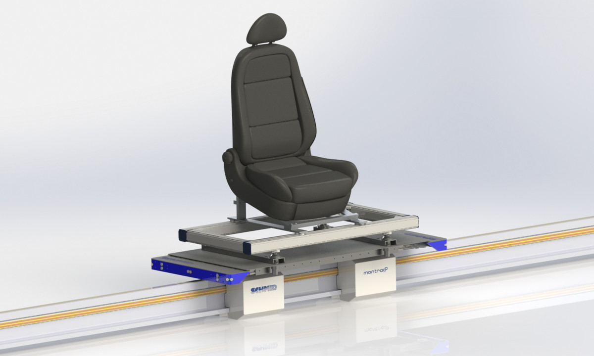 Assembly of car seats: Industrial Shuttle 200